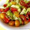 Bicolor tomato salad